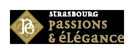 Logo Strasbourg Passions et élégance fond noir