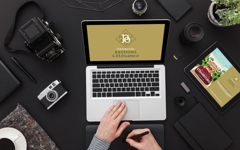 Photographer at work. Image retouching. Photograpghers desk top