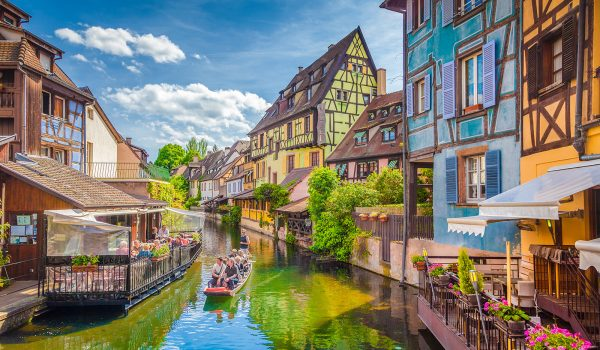 Historic town of Colmar, Alsace region, France