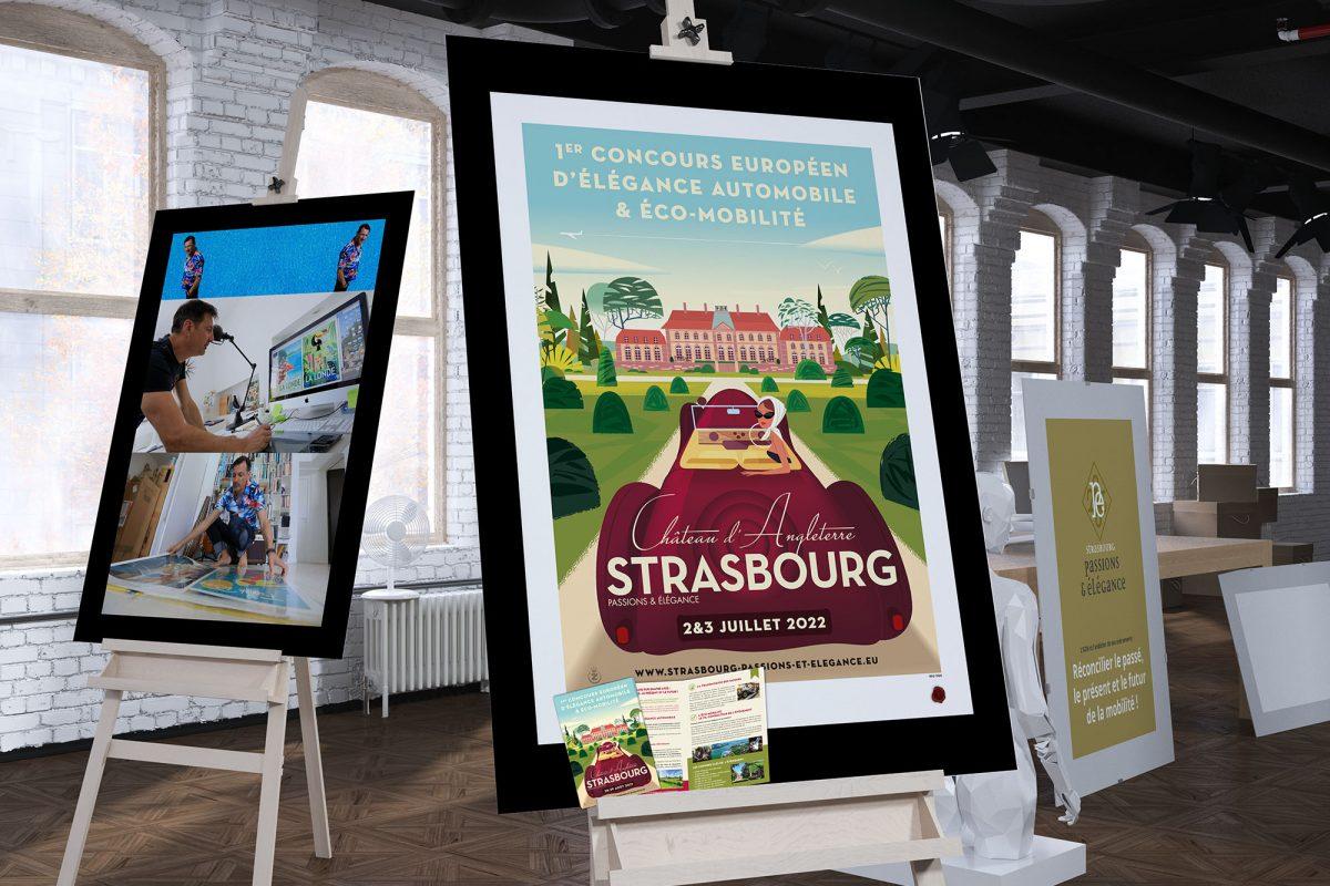 Jeux Concours Affiche collecter premium  Strasbourg Passions et Élégance