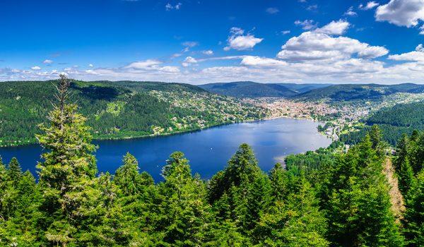 Incredible nature around Gerardmer lake in Vosges mountains, Lorraine, France