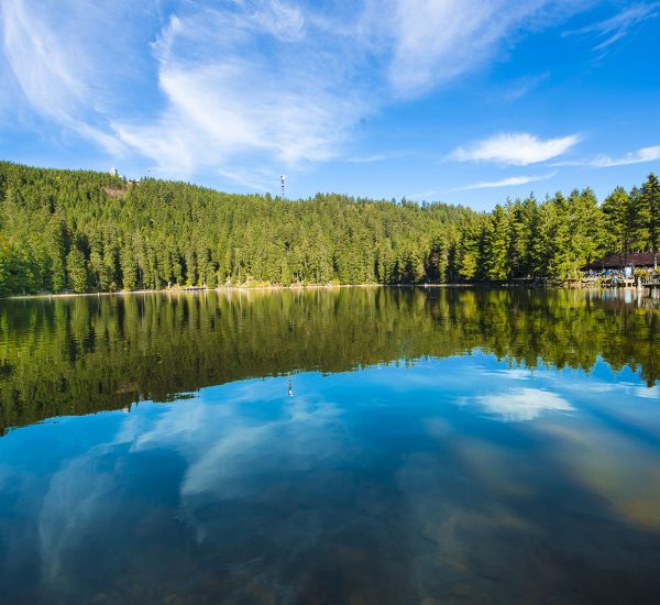 The Mummelsee in the Black Forest surrounded by mountains_Baden-Wuerttemberg, Germany
